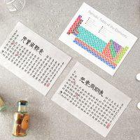 TWY180108-10_科學明信片 - 化學元素表 Science Postcard - Periodic Table of Elements